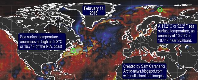 Anomalias das Temperaturas no Ártico